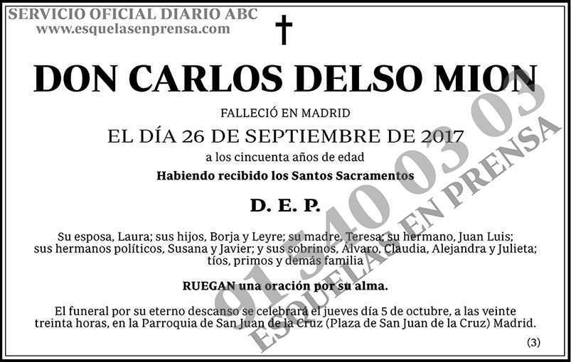 Carlos Delso Mion